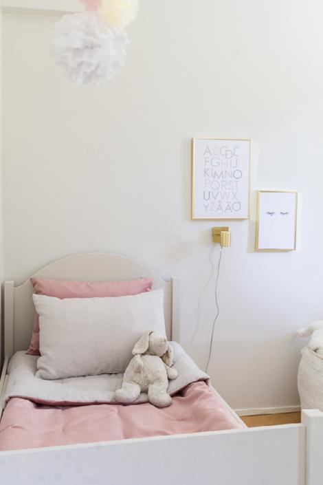 Coffee table diary kirjoittajan lastenhuoneen päiväpeite