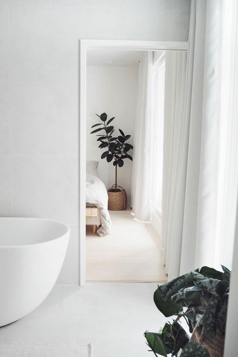 Kylpyhuoneen verhot suomalaisessa blogi kodisssa
