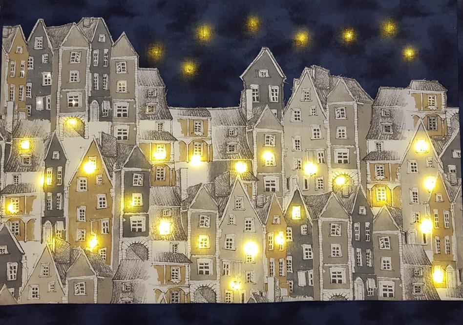 Kaupunkielämää valotaulu